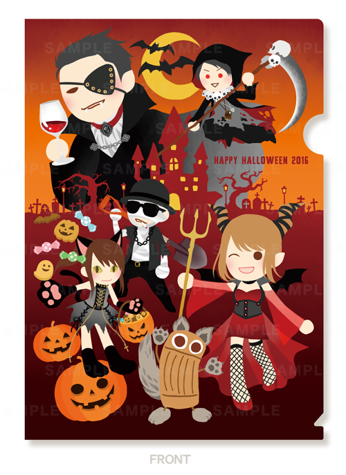A4クリアファイル Halloween ver.