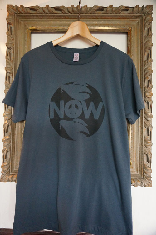 "STENCIL-TEE ""NOW【DENIM】"""