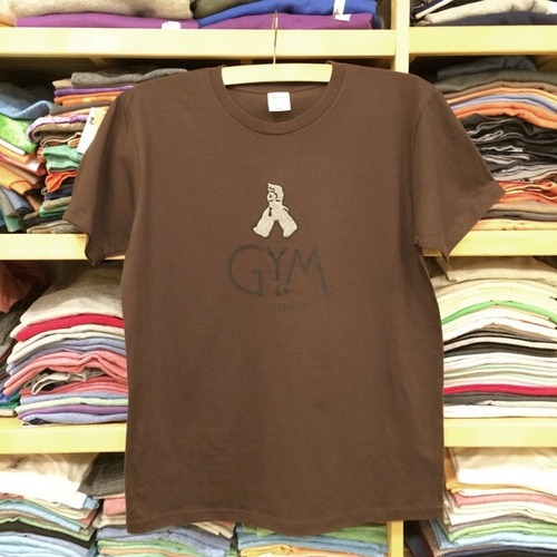 Tシャツ 'GYM' (brown)