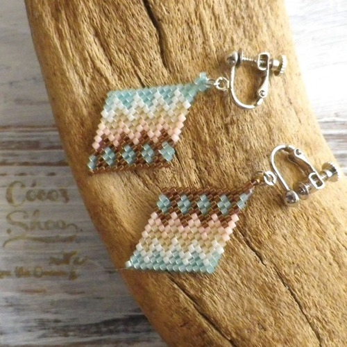 Rhombus Earring  Native pattern