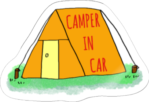 CAMPER IN CAR ステッカー