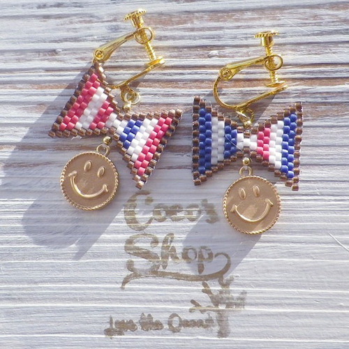 ◆SALE ¥300 OFF◆ Flag Earing ~Tricolore&Smile~