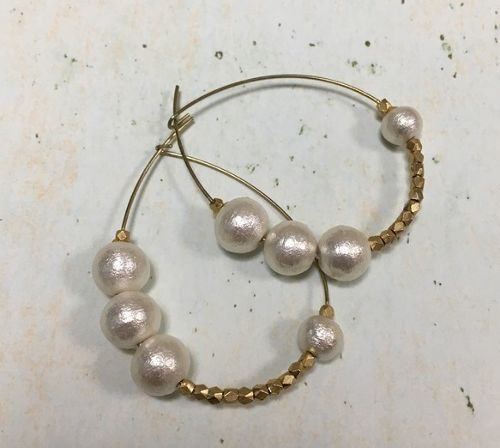 cotton pearl hoop A