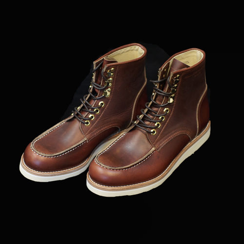 U.S. OIL LEATHER WORK BOOTS MOCA    〈BROWN〉