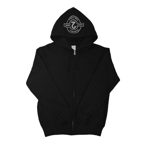Zip-UP Hoodies BLACK