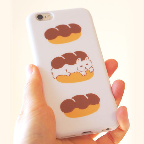 iPhone6/6s/7ソフトケース<猫とパン>
