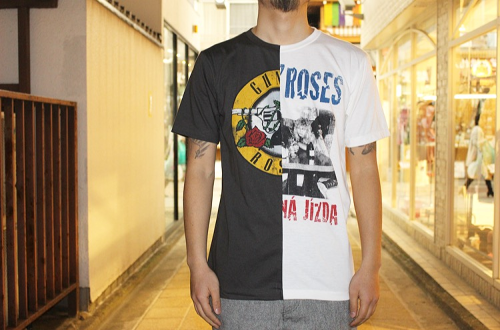 (GUNS N' ROSES) Remake Band T-Shirt Half & Half / TRIANGLE