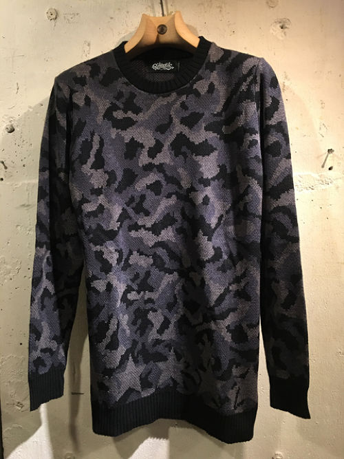 RAKUGAKI CAMO & SECRET STAR SWEATER BLACK