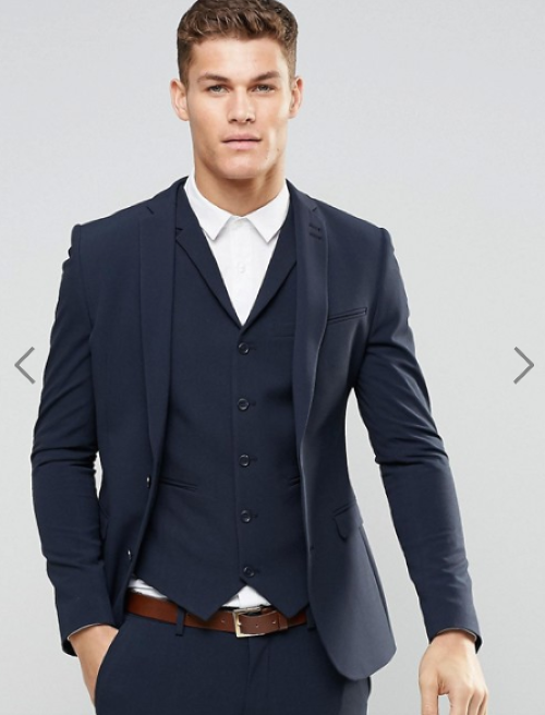 ASOS Super Skinny Fit Suit Jacket In Navy
