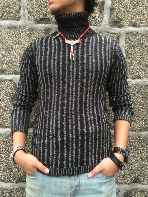 【初のタートルニット】FLASHBACK Turtleneck Carble Knit Sweater