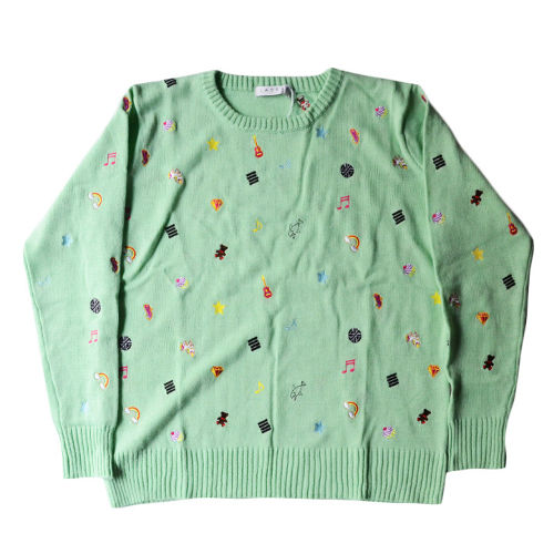 "【LABRAT】sticker sweater ICE GREEN ""SIZE M"""