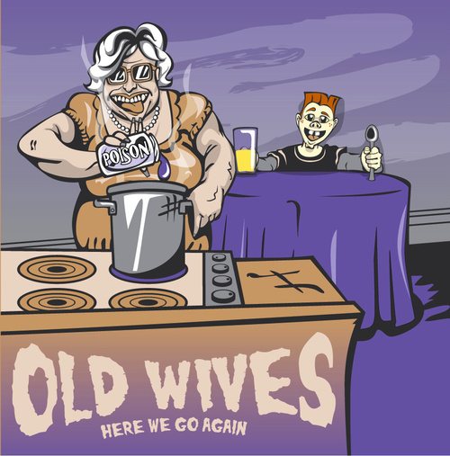 the old wives w/the blendours / split cd