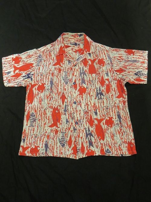 50's S/S Cotton Aloha Shirt