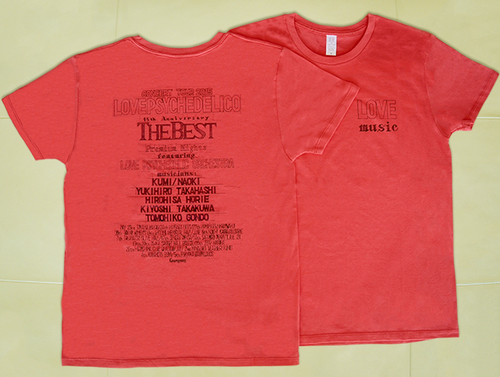 2015 OFFICIAL TOUR T-shirt [RED]