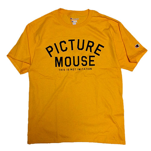 PICTURE MOUSE■not imitation Tsh(GOLD)
