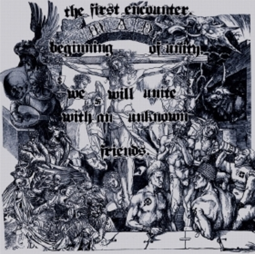 "TANTRUM, CHAOTIX, CONSOCIO SENTENCIA / 3way split 『the first encounter. beginning of unity. we will unite with an unknown friend.』/ 7"" (BOOKLET JACKET)"