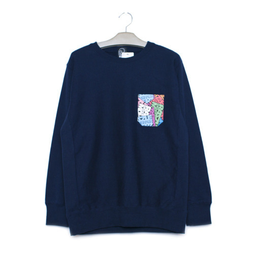 RAZZLE / UGM POCKET CREW NECK / NAVY