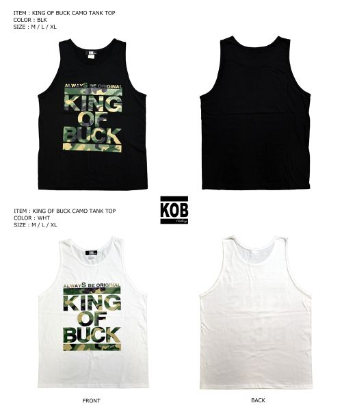 KING OF BUCK CAMO TANK TOP