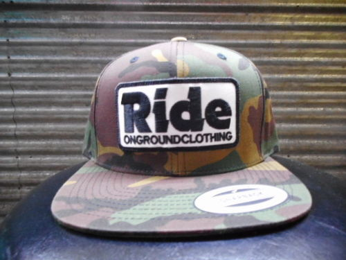 ride ongroundclothingキャップ 迷彩