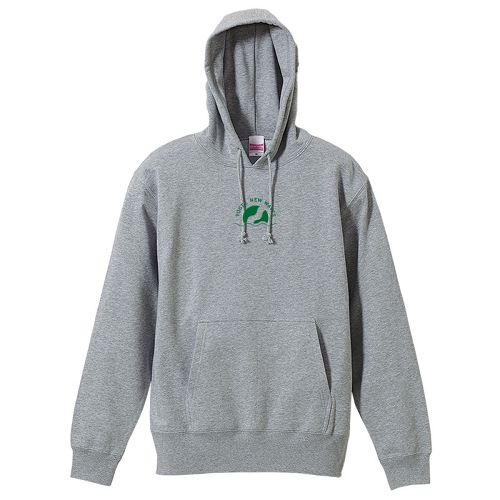 YOG SYMBOL HOODIE (Green on Gray)