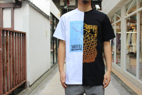 (Nirvana) Remake Band T-Shirt Half & Half / TRIANGLE