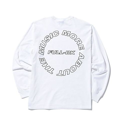 FULL-BK  -  ABOUT THE MUSIC L/S TEE  (WHITE) -