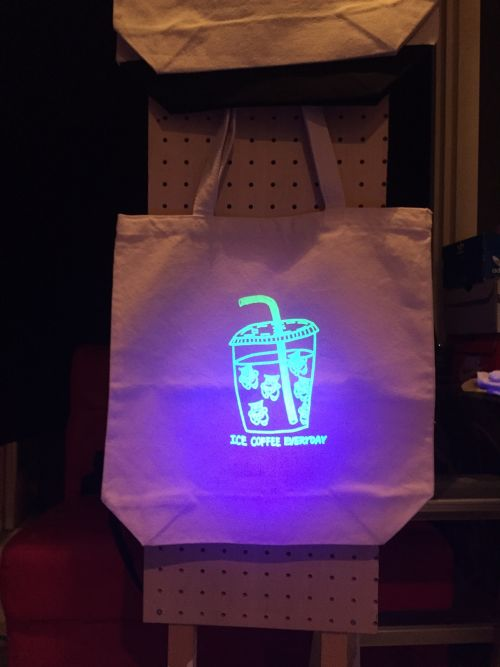 CRASTY ICE COFFEE TOTE BAG (GLOWS IN THE DARK)