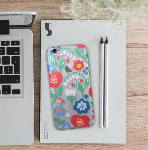 iPhone6Plus/7Plusハードクリアケース<Flowers>