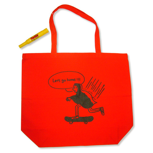 LET'S GO HOME 赤 TOTE BAG L size