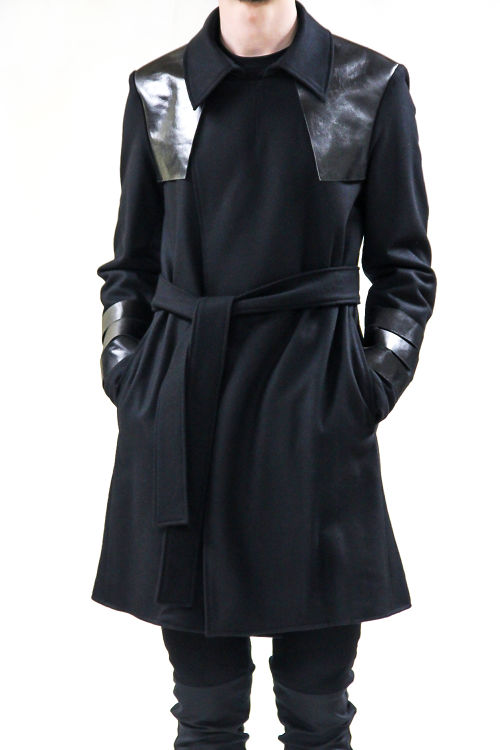 17AW Sheep Leather Wool Coat
