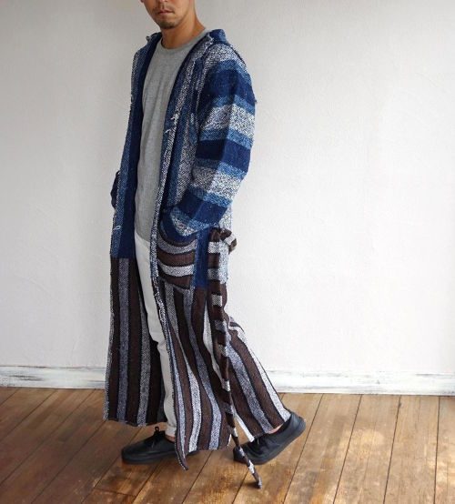 """BAJA ROBE"" Blue×Brown size:Men's Free"