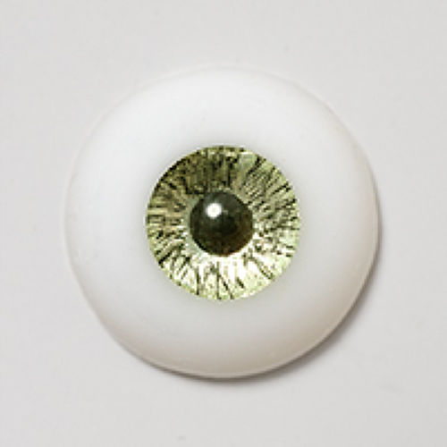 シリコンアイ - 15mm Metallic Chrysolite with Smaller Iris for 13mm (三白眼)