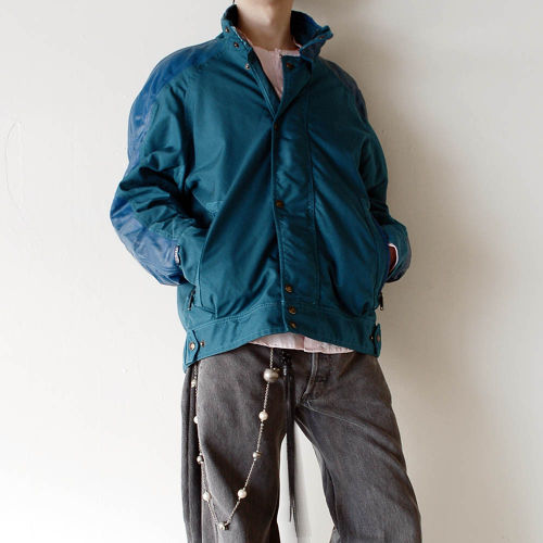 BELSTAFF 80s Green x Blue vintage jacket
