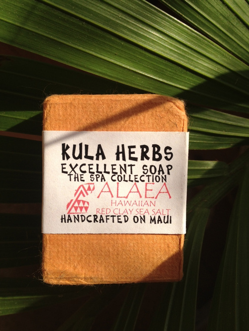 KULA HERBS    EXCELLENT SOAP   ALAEA 4oz(120g)