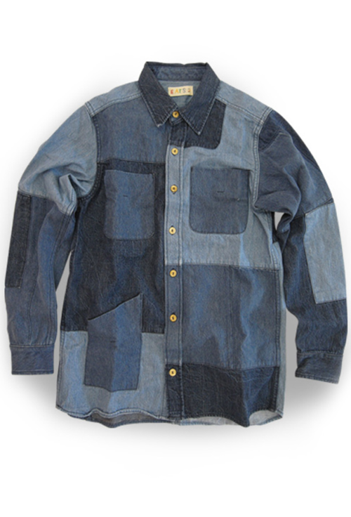 EATS Used Patchwork Shirts_DENIM