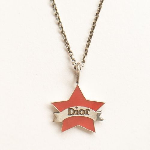 """Dior"" red star necklace[n-185]"