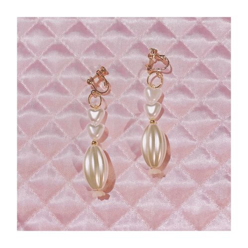 twin heart pearl (pierce/earring)