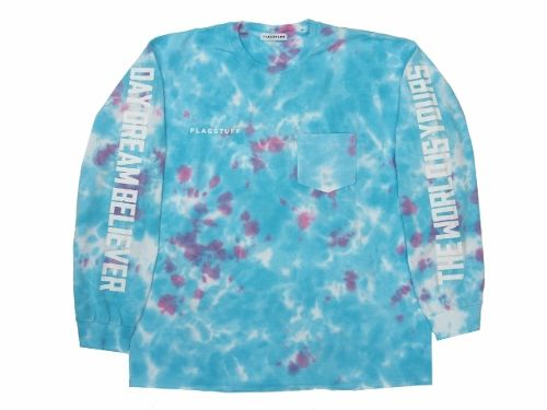 """WORLD-DAY DREAM""L/S Tee  TIEDYE BLUE"