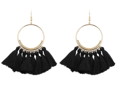 fringe hoop pierce/black