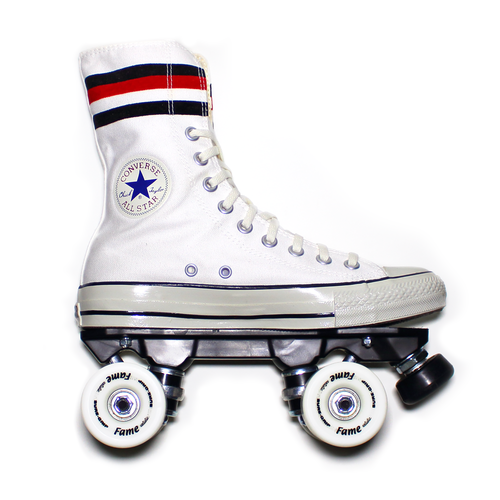 "SM "" WHITE STAR "" Canvas Quad Roller Skate"