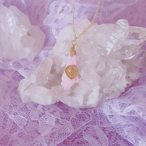 crystal necklace pink(type A)