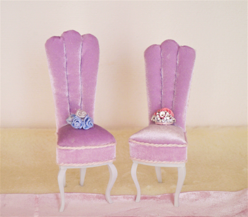 Tiara's Story Chair                                                                             ティアラズ ストーリーチェア (ベロアピンク)