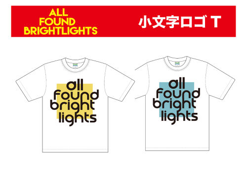 ALL FOUND BRIGHTLIGHTS 小文字ロゴT