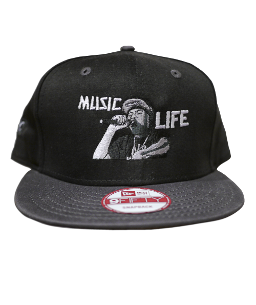 """MUSIC LIFE"" Snap Back New Era Cap - Black"