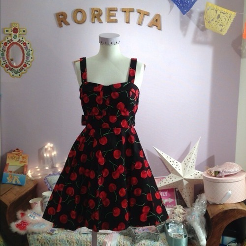 cherry dress(black)