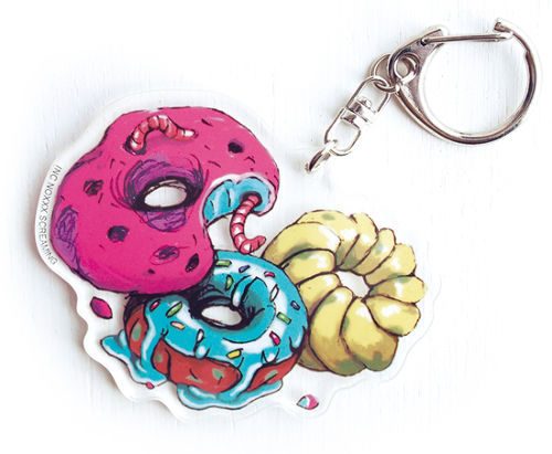 DORK'S DINER acrylic keychain / DONUTS