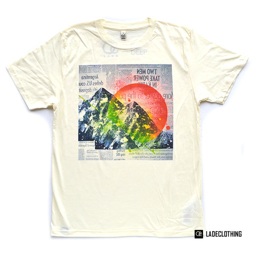 "LADE Clothing / Organic T-Shirt ""Mountain02"""