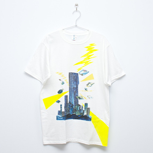 """City T-shirt White(Men's)""ArtLAB×最後の手段"