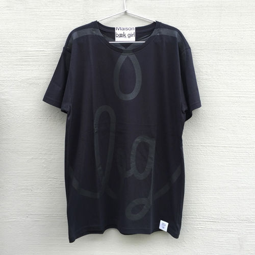 Maison book girl Tshirt black×black_mbg012