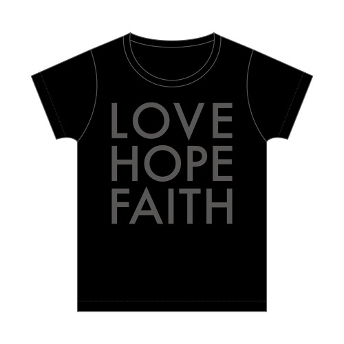 Tシャツ LOVE HOPE FAITH